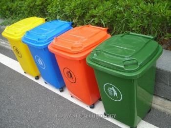 Thùng đựng rác nhựa 60L bánh xe